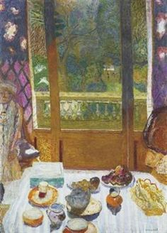 Pierre Bonnard - gorgeous colors, mesmerizing, interiors and glimpses of sunny gardens