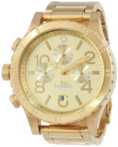 Nixon Men's 48-20 Chrono Watch One Size Gold, http://www.amazon.com/dp/B00C18QI3C/ref=cm_sw_r_pi_awdm_x4Zbub0YCNRTX
