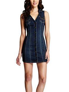 G by GUESS Women's Hannah Denim Dress, DARK WASH (XS) G by GUESS http://www.amazon.com/dp/B00IZ6BM3U/ref=cm_sw_r_pi_dp_iiABub1HJGHP7