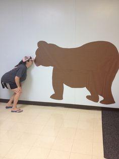 My classroom bear made if bulletin board paper.