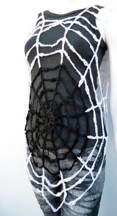Halloween Clothing Spiderweb Costume Women's Crochet Tunic Vest Beach Cover Up Mesh Fishnet Sexy Dress Spider web Halloween Clothes