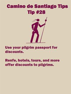 Camino Tip 28: Use your pilgrim passport for discounts