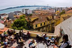 Noobai Cafe in Lisbon - a popular cafe for brunch and a nice spot to see the sunset Spain And Portugal, Lisbon Portugal, Lisbon Food, Portuguese, Places To Go, Brunches, Explore, Late Nights, City