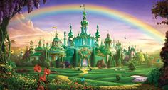 Fan Art of The Emerald City for fans of The Wizard of Oz. a portrait of the emerald city
