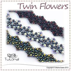 Beading Tutorial - Twin Flowers Bracelet