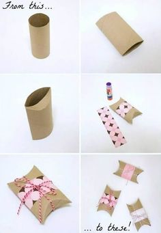 Enfeites com Reciclagem für Dia dos Pais Diy Crafts Hacks, Diy And Crafts, Crafts For Kids, Paper Crafts, Creative Gift Wrapping, Creative Gifts, Gift Wraping, Diy Birthday, Small Gifts