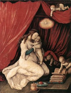 Hans Baldung - Virgin and Child in a Room, 1516