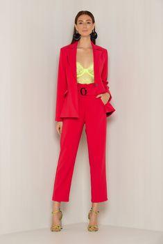 Top Neon, Ideias Fashion, Nova, Duster Coat, Jumpsuit, Pasta, Street Style, My Style, Jackets