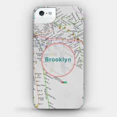 Brooklyn Transit Map Case #travel #city #subway #map #phonecase #brooklyn