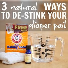 Daily Mom » 3 Natural Ways To De-Stink Your Diaper Pail.. DIY deodorizing disks