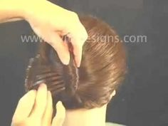 Using Byrd Designs Hair Accessories for a French Twist updo