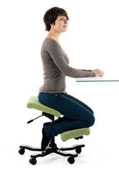 I think I need to buy me one of those kneely-desk-chair things...