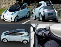 Nissan Land Glider - electric car - ultra-efficient urban transport vehicle - leaning wheels for turn efficiency