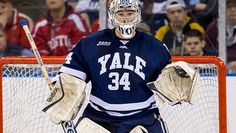 Goaltender Alex Lyon - Yale