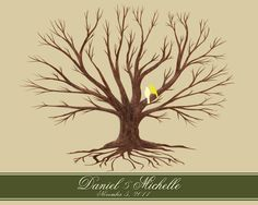 Customized Wedding Thumbprint Family Tree by HelloLoveBoutique, $45.00