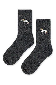 Glitter Unicorn Ankle Socks