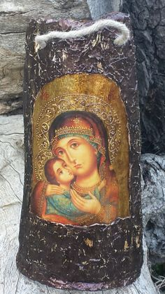 ДЕКУПАЖ Pallet Art, Religious Art, Ikon, Madonna, Fiber Art, Decoupage, Mona Lisa, Collage, Roof Tiles