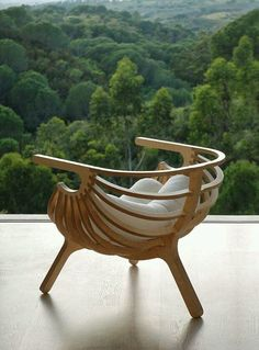 Unique Plywood Chair by Branca -Branca-Lisboa – Shell Chair Funky Furniture, Unique Furniture, Art Furniture, Wooden Furniture, Furniture Design, Outdoor Wicker Furniture, Furniture Buyers, Building Furniture, Furniture Dolly