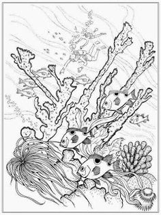 Deep Sea Fish Coloring Pages For Adult