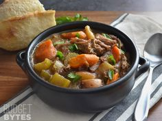 Use your slow cooker to make an intensely flavored Rosemary Garlic Beef Stew with fork tender bits of beef and colorful vegetables. Step by step photos.