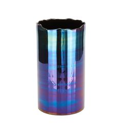 orrefors? Methodical Deep Turquoise Blue & Clear Glass Art Piece Candle Holder Or Vase Modern And Elegant In Fashion