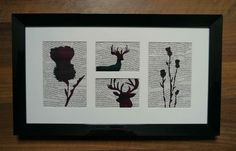 Tartan Thistle & Deer Framed Picture - The Supermums Craft Fair