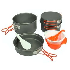 Camp Kitchen - Gas One Anodizing Aluminum Cook Set 35 people  Outdoor cookingHikingBackpacking cookware * Check this awesome product by going to the link at the image.