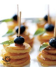 #Pancakes on a stick. #Party #food #finger   #snacks #lunch #sticks #pops #kids