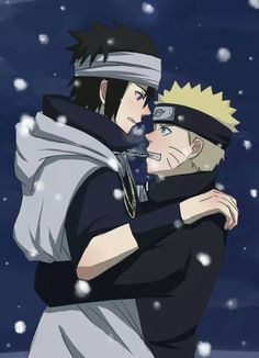 Naruto the last - narusasu yaoi - cute and lovely couple under the snow