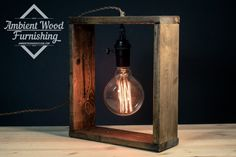 Cottage Style Barn Wood Frame Bras Socket Wall Lamp by AmbientWood Barn Wood Frames, Into The Woods, Cottage Style, Industrial Style, Lighting Design, Light Up, Wood Projects, Wall Lights, Table Lamp