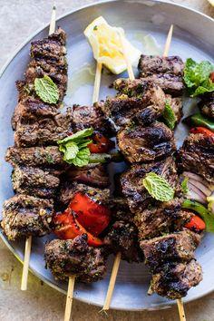 The Best BBQ Pork Ribs Recipe Ingredients – Grilling Doctor Lamb Kabobs Recipe, Lamb Skewers, Bbq Skewers, Kabob Recipes, Grilling Recipes, Cooking Recipes, Barbecue Recipes, Pork Rib Recipes, Grilled Lamb