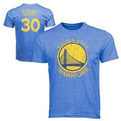 Majestic Threads Stephen Curry Golden State Warriors Name and Number Tri-Blend T-Shirt - Royal Blue