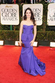 Madeleine Stowe carries VBH at Golden Globe Awards 2012