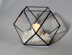 Szklane terrarium – Trójkąty i Kwadraty - GlassWoodMe - Lampiony