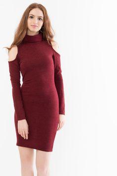 Cold Shoulder Roll Neck Dress Roll Neck Dress, High Neck Dress, Suzy, Cold Shoulder, Womens Fashion, Sweaters, Dresses, Turtleneck Dress, Vestidos