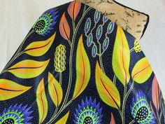 Congolese Fabric--African Wax Print Fabric--Java Print Fabric--Purple/Orange/Lime Giant Floral --African Fabric by the HALF YARD by MoreLoveMama on Etsy