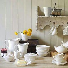 White crockery by Portmerion