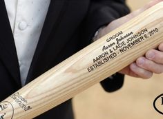 Our Customized Louisville Slugger baseball bats can be personalized with up to four lines of text.  Each line is limited to 25 characters.  Order yours today!