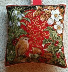 Christmas Robin Fabric Lavender Bag / Christmas Gift - Handmade in Home, Furniture & DIY, Celebrations & Occasions, Christmas Decorations & Trees | eBay