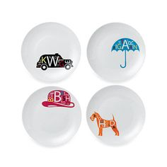 Royal Doulton® Pop In For Drinks 6-Inch Tidbit Plates (Set of 4) - BedBathandBeyond.com