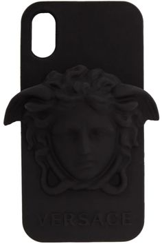 Versace - Black Medusa iPhone X Case Medusa Snake, Versace Pink, Pink Quilts, Logo Stamp, Iphone 8 Cases, Quilted Leather, Friends In Love, Black Nikes, Women