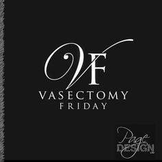 Vasectomy Friday (at Bay Urology, Tauranga) logo Page Design, Friday, Graphic Design, Logos, Artwork, Poster, Work Of Art, Auguste Rodin Artwork, Logo