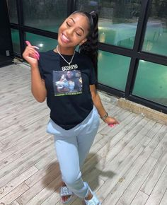 Cute Swag Outfits, Chill Outfits, Dope Outfits, Trendy Outfits, Summer Outfits, Black Women Fashion, Teen Fashion, Fashion Outfits, Dope Fashion