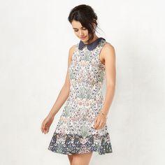 Women's LC Lauren Conrad Print A-Line Dress, Size: