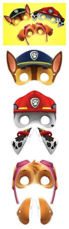Paw patrol -- inspiration for face painting designs Third Birthday, 4th Birthday Parties, Boy Birthday, Birthday Ideas, Paw Patrol Party, Paw Patrol Birthday, Paw Patrol Full Episodes, Cumple Paw Patrol, Puppy Party