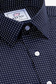 Shop for the Finn Navy Blue Slim Fit Untuckable Dress Shirt, a Navy Blue Cotton Slim Fit Untuckable Dress Shirt by Alynn. Mens Dress Outfits, Men Dress, Dress Shirt, Casual Outfits, Mens Printed Shirts, Linen Shirts, Shirt Collar Styles, King Fashion, Men's Fashion
