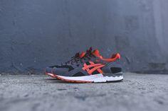 Asics Gel Lyte V - Black / Dark Grey / Orange Asics Gel Lyte, Black Dark, Huaraches, Nike Huarache, Sneakers Nike, Orange, Collection, Shoes, Fashion