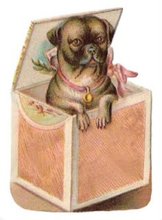 antique pug | For all of you Pug Lovers out there! My favorite is the little chef ...