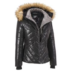 Noize Snap Front Puffy Jacket w/Contrast Panels Was: $550.00                     Now: $269.99