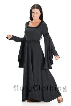 Arwen Square Neck Renaissance Medieval Princess Gown Dress  by Holy Clothing  They do big sizes - yeah!!
